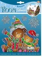 Элемент декоративный ROOM DECOR Медвежата с подарками-мини POX 6654