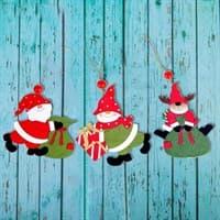 Подвеска Новогодние подарочки микс 154257