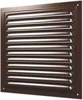Решетка ЭРА вентиляционная вытяжная стальная с покрытием полимерной эмалью 200*200 2020МЭ коричневый