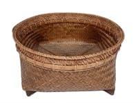 Корзина ротанг круглая плетенная без ручек, средняя