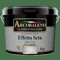 Краска декоративная РАДУГА Arcobaleno Effetto Seta База серебро (5кг)