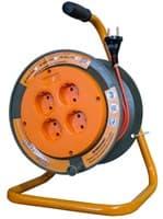 Удлинитель силовой на катушке GLANZEN 4 гн. ПВС 2х0,75 арт.ЕВ-20-002