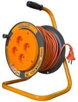 Удлинитель силовой на катушке GLANZEN 4 гн. ПВС 2х1 арт.ЕВ-30-004