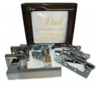Комплект дверной фурнитуры DUET PLATINUM COLLECTION S-0742 CP/SN хром/мат.хром