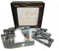 Комплект дверной фурнитуры DUET PLATINUM COLLECTION S-0747 CP/SN хром/мат.хром