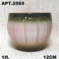 Горшок керамический 1л бочка,глазурованный 2565