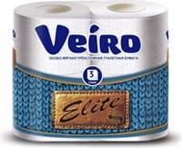 Бумага туалетная Linia VEIRO Elite 9c34 3сл. 4шт