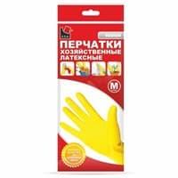 Перчатки хозяйственные латекс. М желтые  A.D.M. /240пар/12 DGL017P