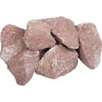 Камень Банные штучки Кварцит малиновый колотый в коробке по 20кг 3715