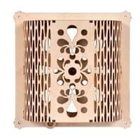 Вентиляционная задвижка Банные штучки резная 16*16 см для бани и сауны 32691