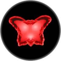 Ночник ULTRA LIGHT CZ-4B Бабочка 0,3Вт 220В LED, красный