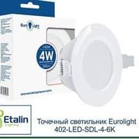 Светильник встраиваемый светодиодный Eurolight 402-LED-SDL-4-6K