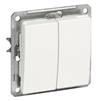 Выключатель WESSEN W59 VS516-252-1-86 скр.уст. 2-кл б/рамки (250В,16А)
