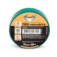 Изолента AVIORA зеленая 15мм*20м арт.305-001/305-062