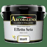 Краска декоративная РАДУГА Arcobaleno Effetto Seta Matt база матовый шелк (1кг)