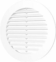 Решетка ЭРА вентиляционная круглая с пластиковой сеткой D130 вытяжная АБС с фланцем D100 10РКС