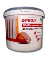 Эмаль ОРЕОЛ для радиаторов Акрил белая матовая 2,5кг