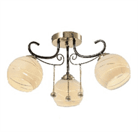 Светильник потолочный ESCADA 1121/3 E27*60W Gold/Black