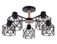 Светильник потолочный ESCADA 508/5PL E27*60W Black
