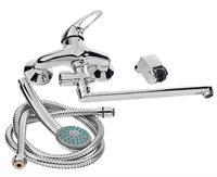 Смеситель RUBINETA P-12/C Star для ванны с длинным изливом P2CK01