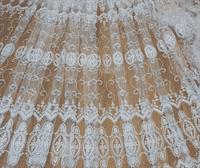 Тюль сетка с выбитой вышивкой в ассортименте