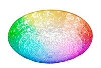 Светильник ESTARES управляемый светодиодный AKRILIKA RGB 36W R-400-CLEAR/WHITE-220-IP20/2019