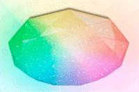 Светильник ESTARES управляемый светодиодный ALMAZ 60W RGB R-493-SHINY/WHITE-220V-IP44 /2019