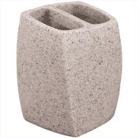 Подставка д/зубных щеток АКВАЛИНИЯ светлый камень BPO-0859-1B