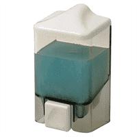 Дозатор PRIMANOVA для мыла 1000 мл прозрачный-белый 10,5*10,5*19см SD06