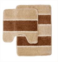 Комплект ковриков для ванной PRIMANOVA SERA бежевый 2 предмета D-12986
