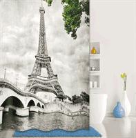Штора IDDIS для ванной комнаты полиэстер Paris days,Grey 180*200 541P18Ri11