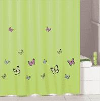 Штора IDDIS для ванной комнаты Green Butterfly 200*200 SCID032P