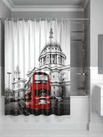 Штора IDDIS для ванной полиэстер London Spirits  iddis 180*200 542P18Ri11