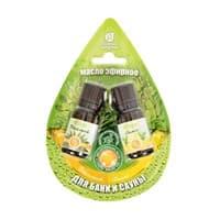 Набор эфирных масел Банные штучки Эвкалипт и лимон 2 масла по 10мл в блист.в форме капля 32371