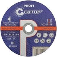 Диск отрезной FIT по металлу профессиональный Т41-180х1,6х22,2 Cutop Profi 40013т