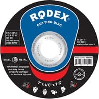 Диск отрезной RODEX по металлу синий 180*1.6*22мм SRM16180