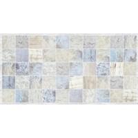 Панель ПВХ Плитка Мрамор голубой 964х484мм ТП10009500