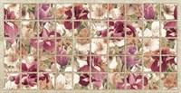Панель ПВХ Плитка Бордовые ирисы 964*484мм УТ000027203