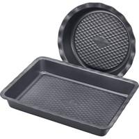 Набор форм для выпечки POLARIS Kontur-3323SET прямоугольная 33*23см/круглая 23см из углер.стали