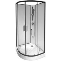 Душевая кабина AM.PM Joy без г/м 900х900х2160 стекло прозрачное, профиль графитовый W85C-001-090GT
