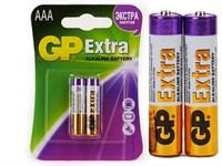 Батарейки GP EXTRA Мизинчиковые (ААА) 2шт (блистер)