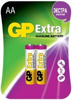 Батарейки GP EXTRA пальчиковые (АА) 2шт (блистер)
