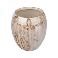 Стакан д/зубных щеток АКВАЛИНИЯ Оникс коричневый керамика CE1033