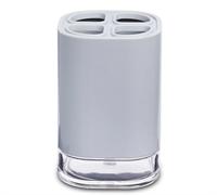 Стакан PRIMANOVA KLAR для зубной пасты,пластик,серый D-20612