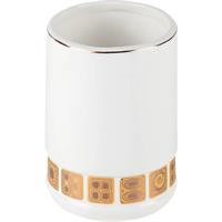 Стакан PRIMANOVA PETI  для пасты и щетки, керамика D-20142