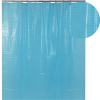Штора для ванной АКВАЛИНИЯ 3D-135, мелк. кв. голубая 1,8*1,8