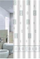 Штора для ванной PRIMANOVA Hieroglyph 180*200см (ткань полиэстер) DR-50039