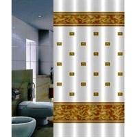 Штора для ванной PRIMANOVA Zumrut (бежевый) 180*200см (ткань полиэстер) DR-50016