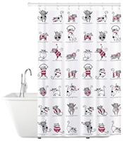Штора для ванной TATKRAFT Funny Cats 180*180см 14022
