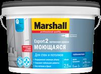 Краска водоэмульсионная MARSHALL EXPORT-2 матовая BW 2,5л